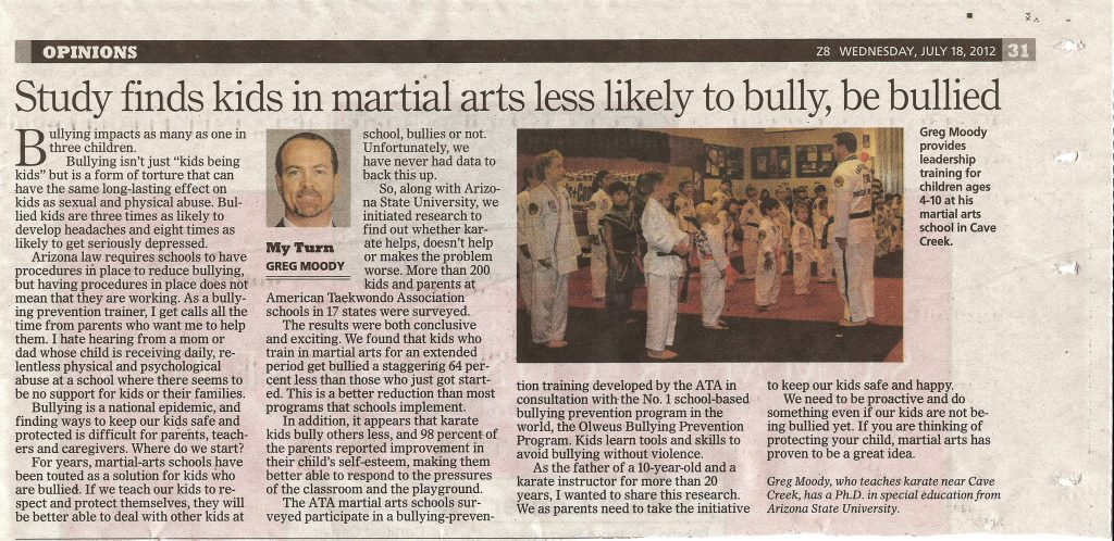 Az Republic Op Ed Piece on Bullying
