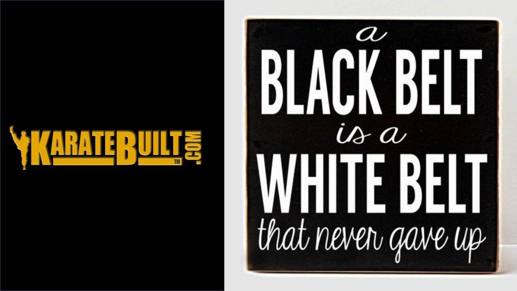 Black Belt Is White Belt Who Never Quit