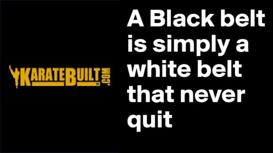 Black Belt White Belt Who Never Quit