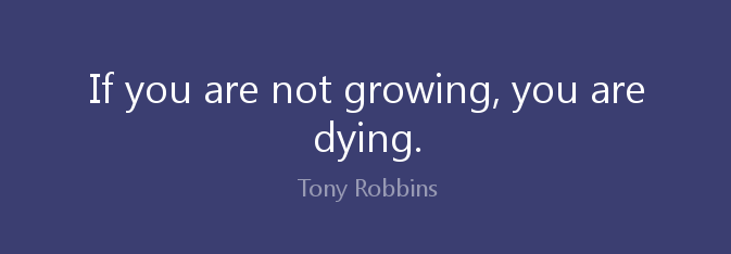 If You're Not Growing Your Dying