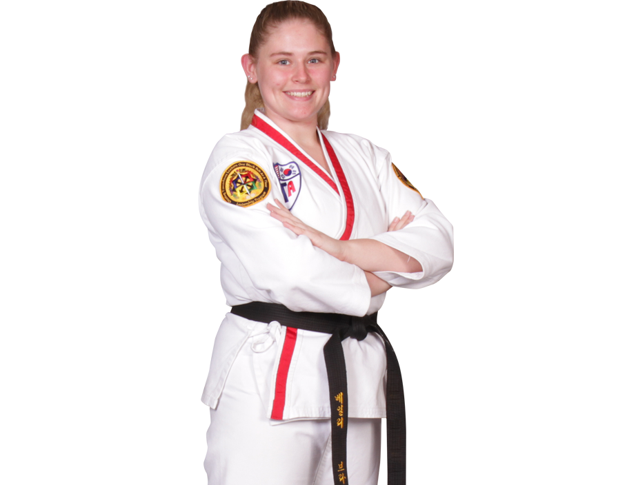martial arts student woman