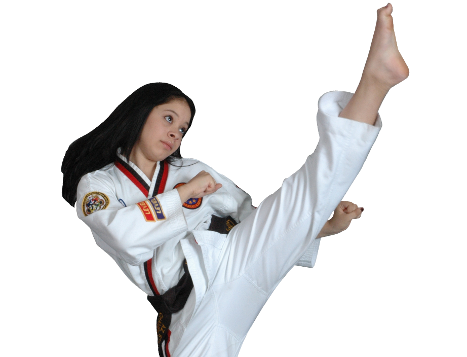 Adult Woman high kicking