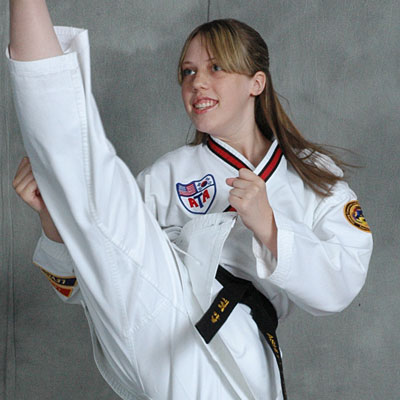 woman martial arts training