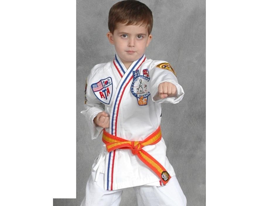 young boy punching