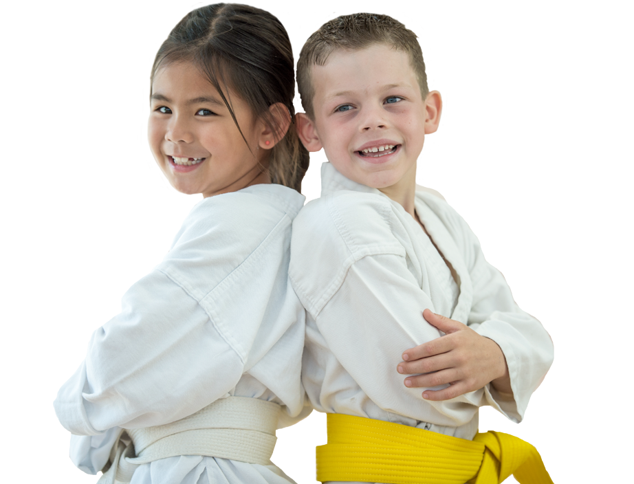 boy and girl martial arts friends