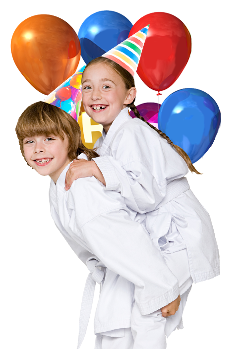 2 Martial Arts birthday kids