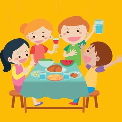 birthday snacks graphic