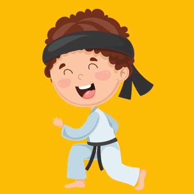 camp karate graphic