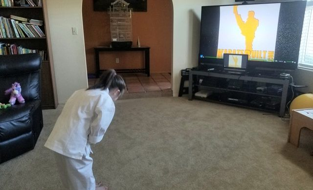 White Belt Bowing at Online Class